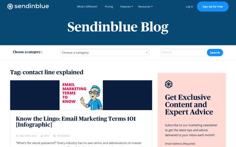 Screenshot of Blog sendinblue.com - contact line explained Archives | Sendinblue Blog - captured Nov. 1, 2019