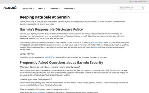 Security | Garmin | United States