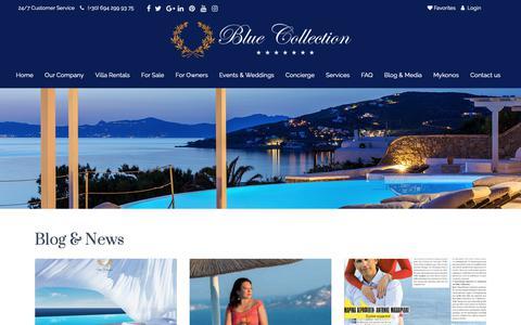 Screenshot of Blog bluecollection.gr - Blog & News - Blue Collection GreeceBlue Collection Greece - captured Oct. 6, 2018