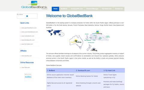Screenshot of Home Page globalbedbank.com - Global BedBank Home - captured Jan. 24, 2016