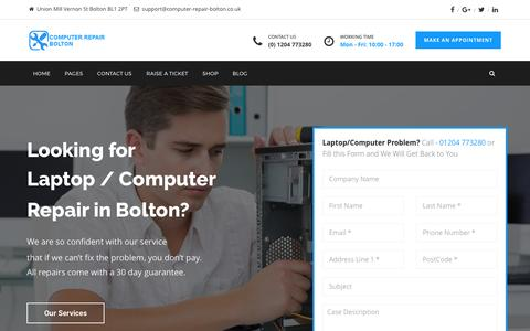 Screenshot of Home Page computer-repair-bolton.co.uk - Computer Repair Bolton – Sales..Service..Repair - captured May 20, 2017