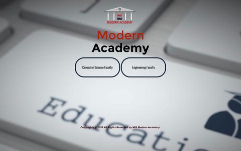 Screenshot of Home Page modern-academy.edu.eg - Modern Academy - captured Dec. 4, 2016