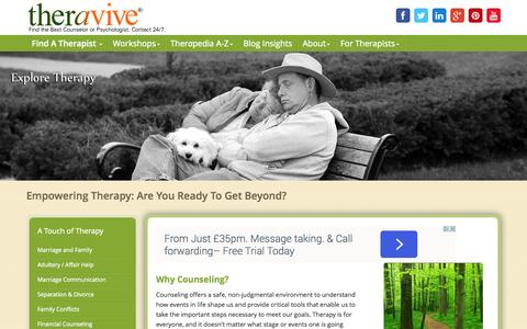 Screenshot of Services Page theravive.com - Theravive - captured Sept. 23, 2014