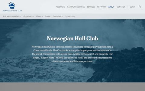 Screenshot of About Page norclub.no - About » Norwegian Hull Club - captured Oct. 26, 2014