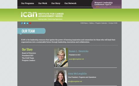 Screenshot of Team Page icanglobal.net - The ICAN Team | ICAN Global - captured Feb. 3, 2016