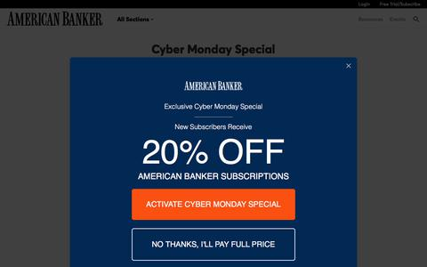 American Banker Cyber Monday  | American Banker