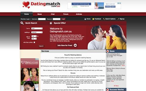 Screenshot of Services Page datingmatch.com.au - Free Online Dating - Contact Members for Free - Datingmatch.com.au - captured Jan. 28, 2017