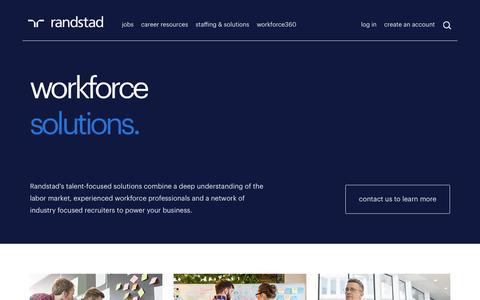 Workforce Solutions | Randstad USA