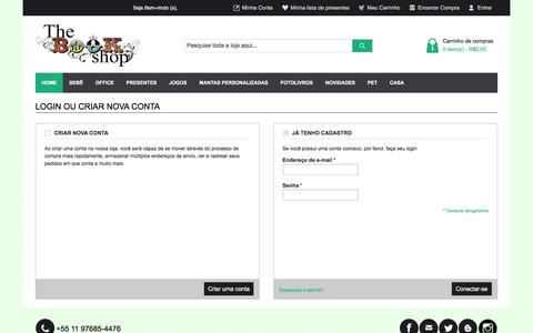 Screenshot of Login Page thebookshop.com.br - Login do cliente - captured Sept. 21, 2018