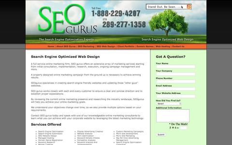 Screenshot of Home Page Privacy Page Site Map Page Terms Page seogurus.net - Search Engine Optimization Experts - SEOgurus.net - Toronto - captured July 20, 2016