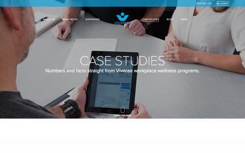 Screenshot of Case Studies Page viverae.com - Case Studies | Workplace Wellness Viverae - captured Aug. 18, 2018