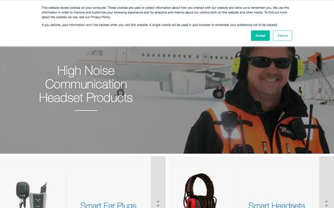 Screenshot of Products Page sensear.com - Two Way Radio Headset | Noise Cancelling Bluetooth Headsets | Products - captured Aug. 21, 2018