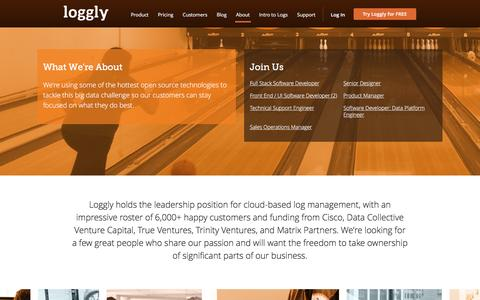 Screenshot of Jobs Page loggly.com - Careers at Loggly - captured Dec. 1, 2015
