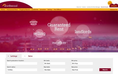 Screenshot of Home Page northwooduk.com - Northwood UK   Estate Agents   Letting Agents - captured Sept. 19, 2014