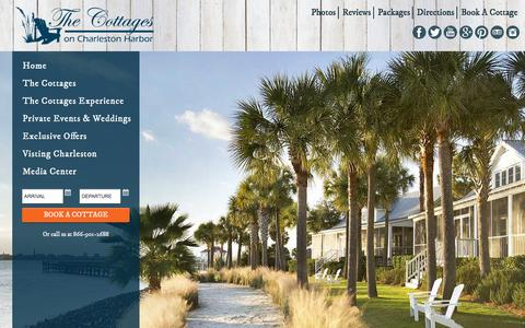Screenshot of Site Map Page thecottagesoncharlestonharbor.com - Site Map | The Cottages on Charleston Harbor - captured Feb. 7, 2016