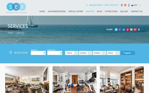 Screenshot of Services Page sea-hotel.co.il - Services | Sea Excecutive Suites - captured Feb. 16, 2016