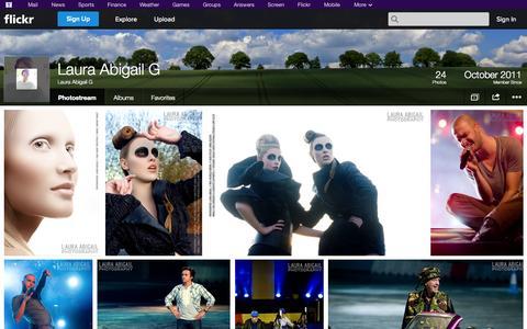 Screenshot of Flickr Page flickr.com - Flickr: Laura Abigail G's Photostream - captured Oct. 22, 2014