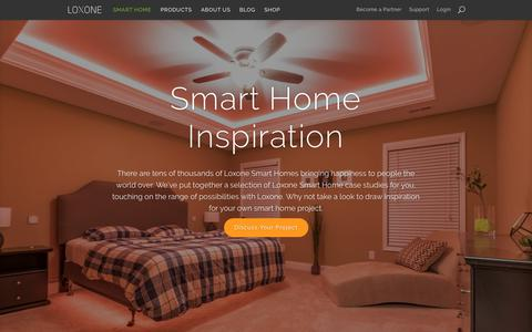 Screenshot of Case Studies Page loxone.com - Case Studies: Loxone Smart Home Technology in Real Homes - captured June 23, 2017