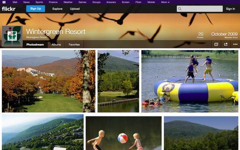 Screenshot of Flickr Page flickr.com - Flickr: Wintergreen Resort's Photostream - captured Oct. 25, 2014