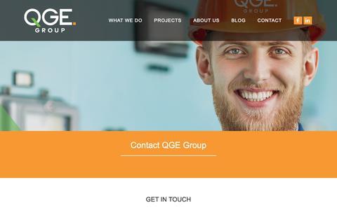 Screenshot of Contact Page qge.com.au - Contact - QGE Group - captured Sept. 25, 2018