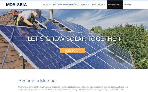 Screenshot of Signup Page mdvseia.org - Join | MD DC DE VA Solar Energy Industries Association - captured Oct. 17, 2018
