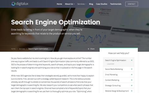 Search Engine Optimization | Digitalux