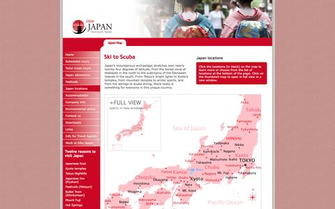 Screenshot of Locations Page intojapan.co.uk - Japan Locations | Japan map - captured Feb. 11, 2016