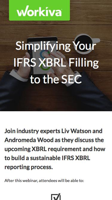 Simplifying Your IFRS XBRL Filing to the SEC | Workiva