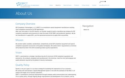 Screenshot of About Page espctllc.com - About Us | ESPCT - captured Oct. 16, 2016