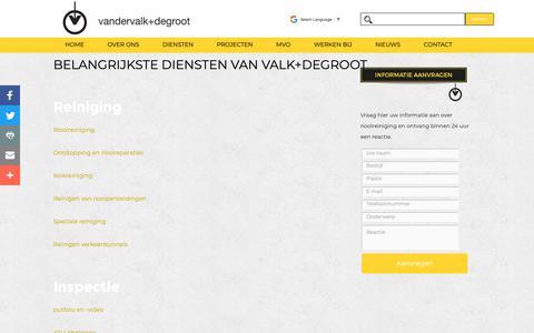 Screenshot of Site Map Page valkdegroot.nl - Sitemap - Valk+degroot - captured Sept. 28, 2018