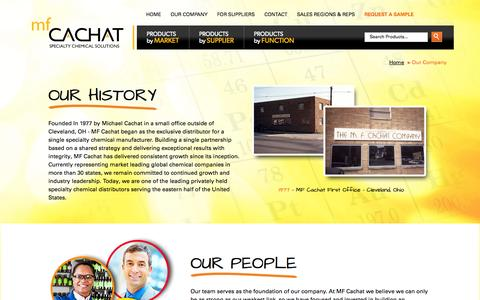 Screenshot of Team Page mfcachat.com - History of MF Cachat - 35 years of Specialty Chemical Companies Industry Service - captured Oct. 3, 2014
