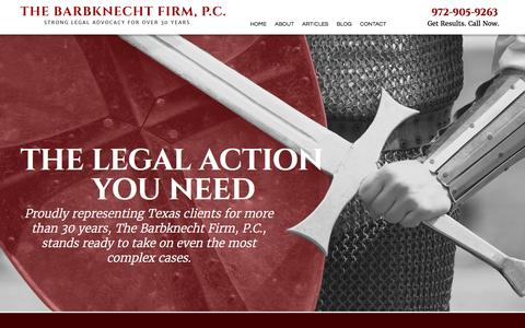 Screenshot of Home Page bfirmtx.com - Plano Family Law Attorney | Civil Litigation and Commercial Law - captured April 8, 2017