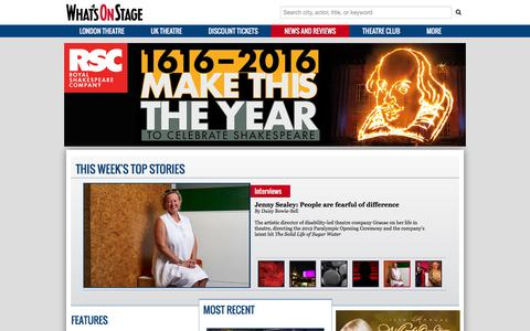 Screenshot of Press Page whatsonstage.com - London Theatre News, Reviews, Interviews and more | WhatsOnStage - captured Feb. 11, 2016