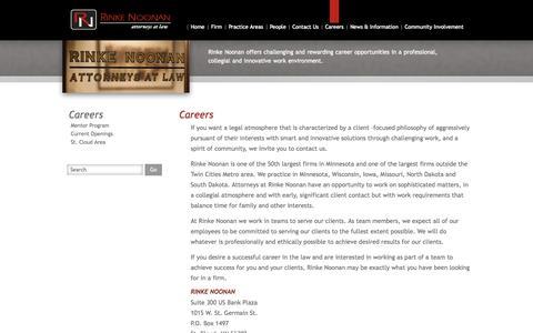 Screenshot of Jobs Page rinkenoonan.com - Careers - Rinke Noonan - captured Oct. 6, 2014