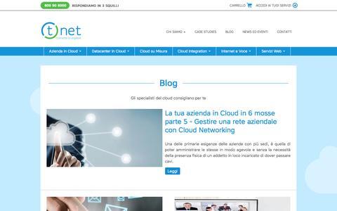 Screenshot of Blog tnet.it - Blog - T.net Italia - Connette le imprese - captured Feb. 22, 2016