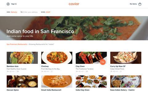 Indian food in San Francisco | Caviar