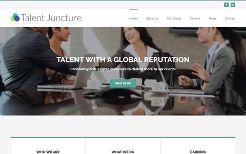 Screenshot of Home Page talentjuncture.com - Talent Juncture – Recruitment & HR Services - captured June 16, 2017