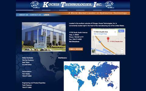 Screenshot of Contact Page kocsistech.com - Contact Us - captured Oct. 8, 2014