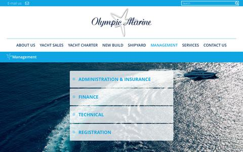Screenshot of Team Page olympic-marine.com - Management - Olympic Marine : Olympic Marine - captured June 12, 2017