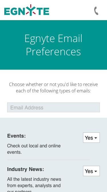 Egnyte Email Preferences