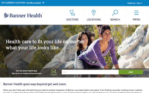 Health care made easier in AZ, CO, WY, NE, NV, CA | Banner Health