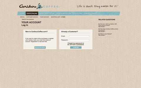 Caribou Coffee | Your Account