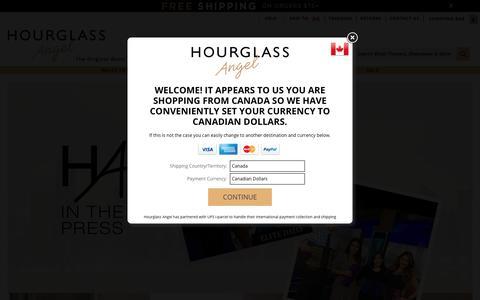 Screenshot of Press Page hourglassangel.com - Press Page - captured Aug. 17, 2018
