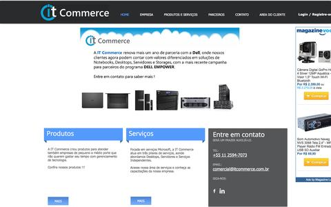 Screenshot of Home Page itcommerce.com.br - IT Commerce - captured May 28, 2017