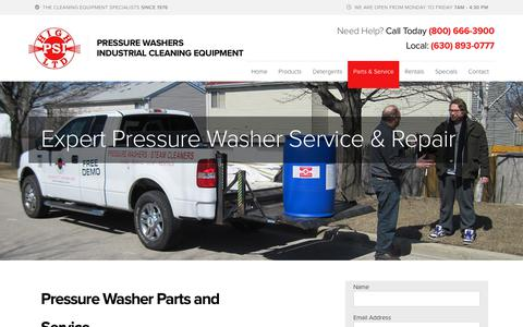 Screenshot of Services Page highpsi.com - Expert Pressure Washer Service & Repair - High PSIHigh PSI - captured Nov. 10, 2018