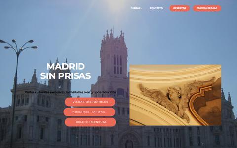Screenshot of Home Page madridsinprisas.es - Madrid Sin Prisas - captured July 27, 2018