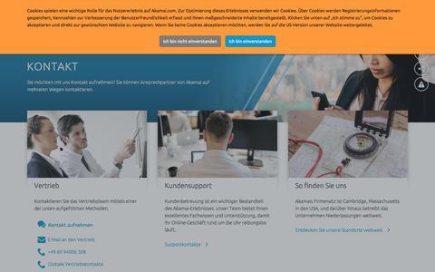 Screenshot of Contact Page akamai.com - Kontakt | Akamai - captured July 6, 2017