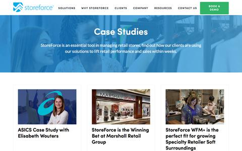 Screenshot of Case Studies Page storeforcesolutions.com - StoreForce | Case Studies - captured Jan. 28, 2020