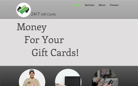 Screenshot of Home Page 247giftcards.com - 24/7 Gift Cards | Sell Gift Card | Southern California - captured Oct. 9, 2014