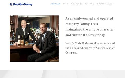 Screenshot of Team Page youngsmarket.com - Leadership - Young's Market Company - captured Sept. 16, 2016